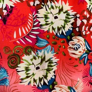 Alice + Olivia Dresses - Alice + Olivia Floral Red Silk Dress Sleeveless XS